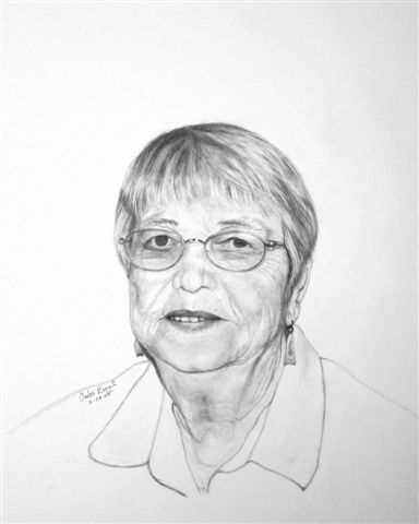 Norma noral royal 97 mother of five pencil drawing by carlos royal